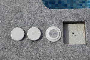 botões zacuzzi