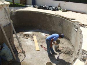 reconstrução de piscina