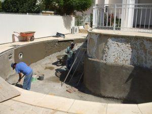 reconstrução de piscina no algarve
